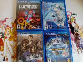 Lote 4 Juegos Ps Vita,lumines,project Divax,all-star,hakuoki