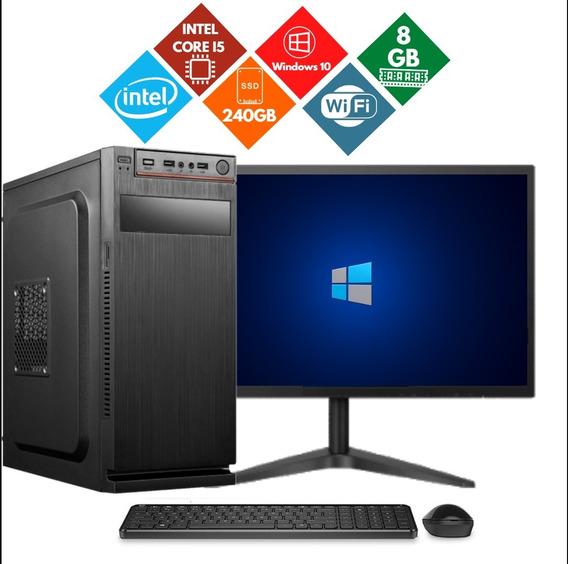 Desktop E Monitor Core I5 240gb Ssd 8gb Ram Oferta, Só Hoje!
