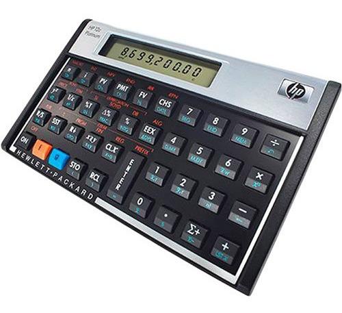 Calcul. Financeira Platinumhp 12c + Capa De Suporte Seminovo