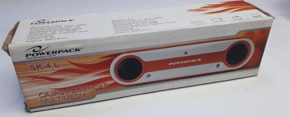 Caixinha De Som Para Pc E Notebook Caixa Powerpack Sk-4.l