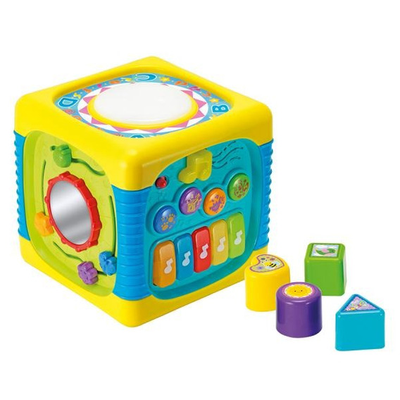 Brinquedo Educativo Com Som Para Bebês Divertido Com Atividades Para Educação Sensibilidade Sonora Piano Teclado Bateria