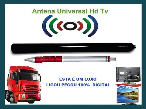 Mine Antena Hd Tv Universal Para Caminhão