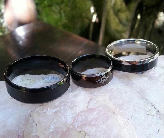 Alianças Anéis Em Aco Inox E Tungstênio Lote Com 3
