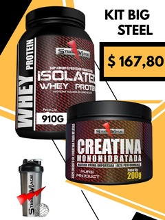 Whey Isolado+creatina+coqueteleira-steel Made Suplementos
