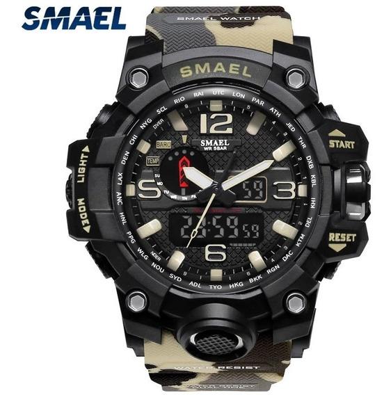 Relógio Smael Militar Original 12x S/juros- Entrega Imediata