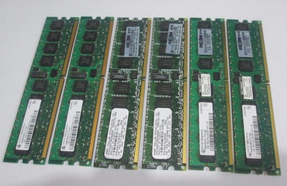 6gb 6 X 1gb Pc3200 Ddr2 400 Ecc Registrada Para Servidores