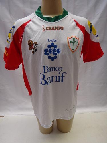 Camisa Futebol Da Portuguesa Lusa Champs #9 Banif Gege Jb9
