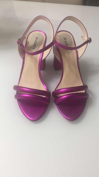Sandália Metalizada Pink Di Alessa