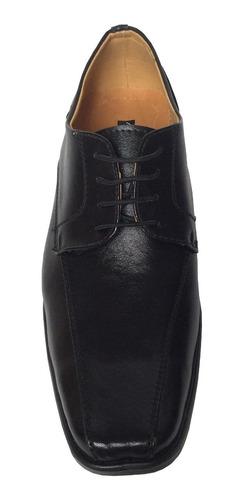 Zapato Elegante Para Hombre 100% Cuero Color Negro