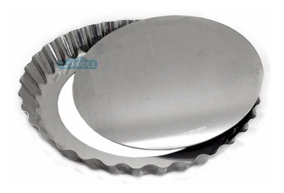 Molde Tartera Desmontable Aluminio Puro Reforzado Nº26