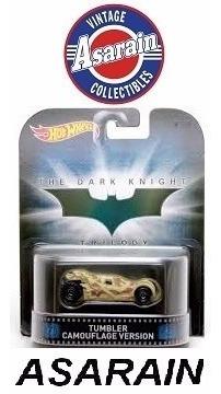 Batman Batmobile Tumbler Camuflage Retro Hot Wheels 1/64