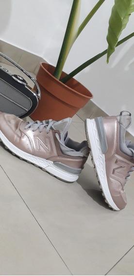 Zapatillas New Balance Edicion Limitada Rosa Plateado