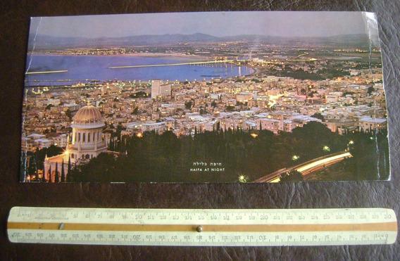 Postal Antigua Ciudad Haifa Israel British U Airways Enorme