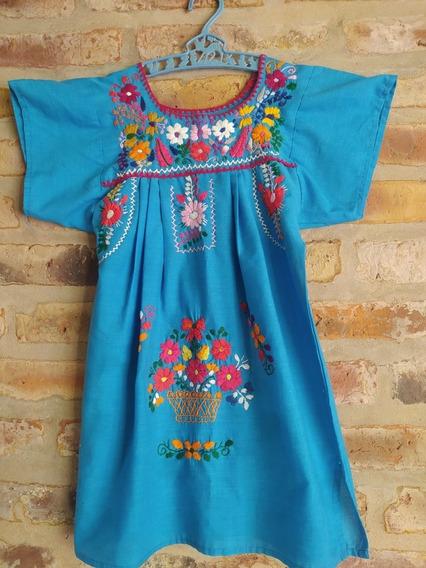 Vestido Bordado Mexicano Talle 2