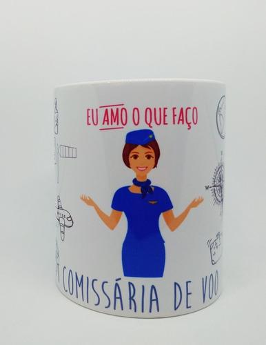 Caneca Personalizada Profissão Comissária De Voo - Bordo