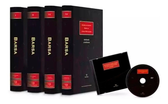 Dicionário Barsa Da Língua Portuguesa 4 Livros De Luxo + Dvd