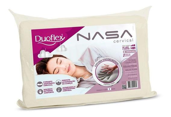 Travesseiro Nasa Viscoelástico Ortopédico Cervical - Duoflex