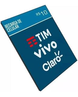 Recarga Celular Crédito Tim Claro Vivo Oi R$ 10,00- Imediato