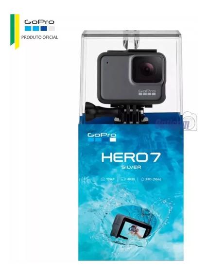 Câmera Gopro Hero 7 Silver 10mp Gravação 4k Wi-fi