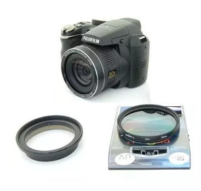 Kit Fuji Finepix S3300 Anel Adaptador + Polarizador Cpl