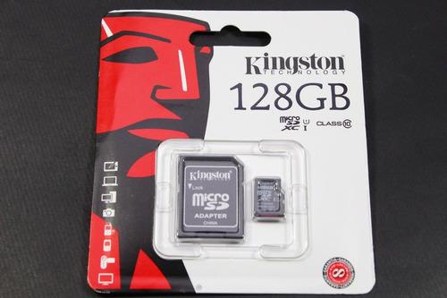 Tarjeta Microsd De 128gb (clase 10 Uhs-i 45mb/s) Con Adaptad