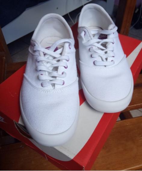 Tênis Nike Mini Sneaker Lace Canvas Original Branco/violeta