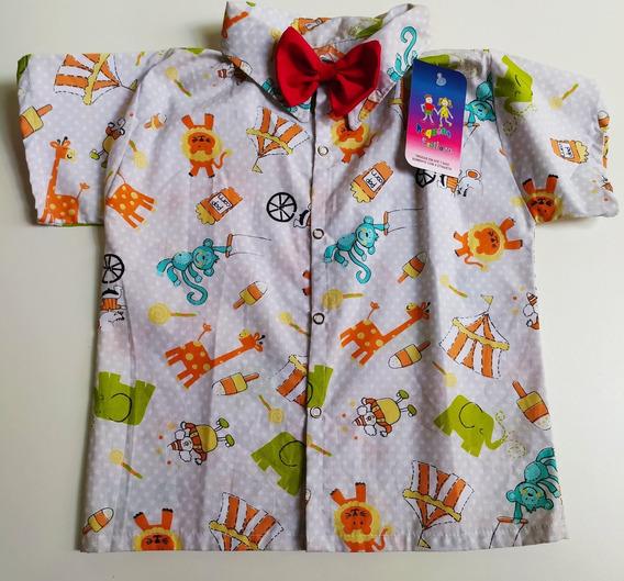 Camisa Infantil Temática Luxo Tema Circo Festa