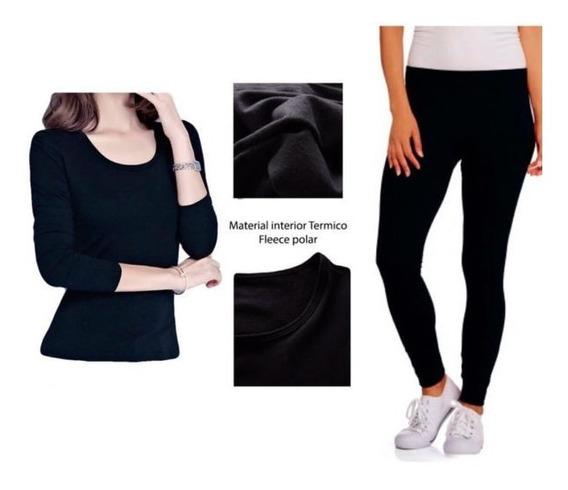 Roupa Térmica Conjunto Blusa,calça Peluciados,meia,luva