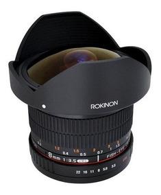 Rokinon Lente 8mm F/3.5 Hd Fisheye Canon Para-sol Removivel