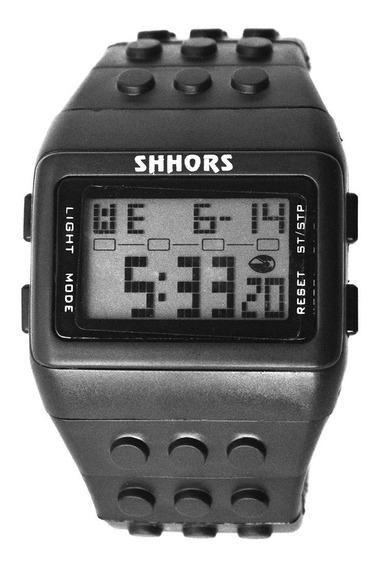 Reloj Lego Bloques Ajustable Digital Shhors Negro