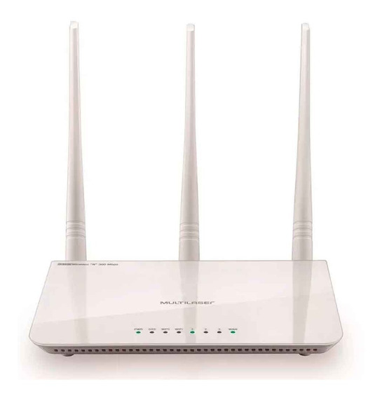 Roteador E Repetidor Multlaser Wireless N 300 Mbps 3 Antenas
