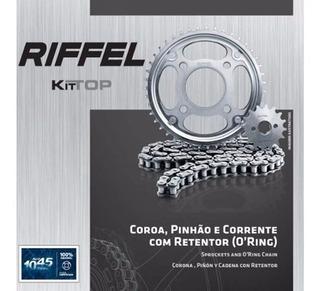 Kit Relação Riffel Kit Top Com Retentor Honda Cg 125 Fan