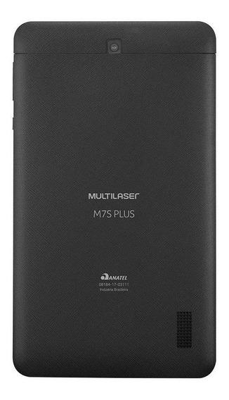 "Tablet Multilaser M7S Plus 7"" 16GB preto com memória RAM 1GB"