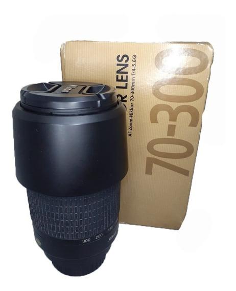 Lente Nikon Af Nikkor 70-300mm Seminova Perfeita 1:4-5.6 G