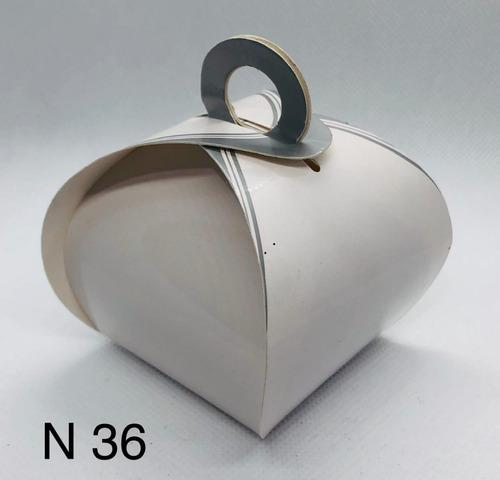 Imagem 1 de 11 de 60 Caixinhas Para Bem Casado Lembrancinha Francesinha Prata