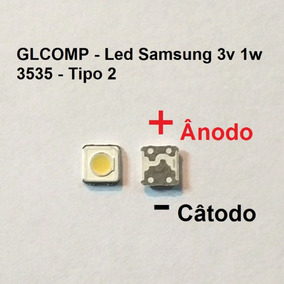 Led Smd Tv Samsung Original 3v 1w 3535 S. F 200 Pçs Carta