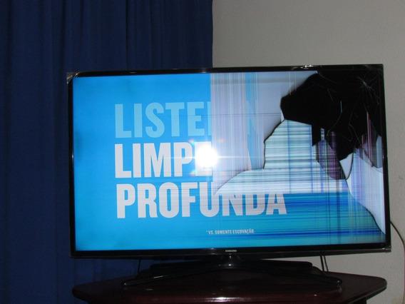 Tv Samsung 46 Smart C/ Tela Trincada Para Retirada De Peças