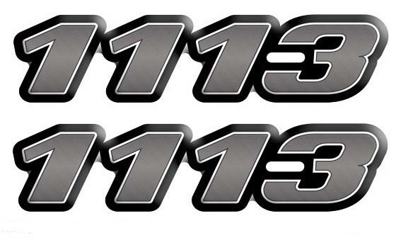 Kit Emblema Adesivo Caminhão Mercedes Benz 1113 Reticulado