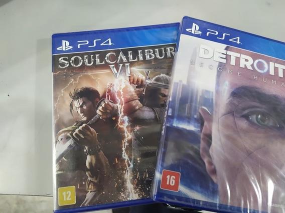 Soul Calibur Vi Ps4 + Detroit Become Human Ps4