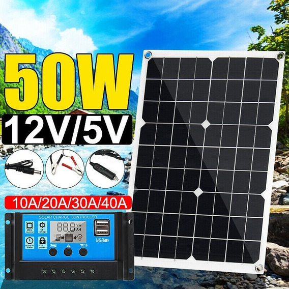 Placa Solar 50 W Semi Flexível