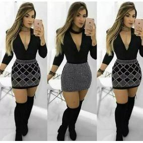 ad10e2481 Saias Pretas Que Estão Na Moda Masculino - Calçados, Roupas e Bolsas ...
