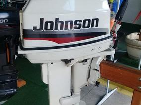 Motor Johnson 25 Hp 1998 Otimo Estado Pouco Uso !