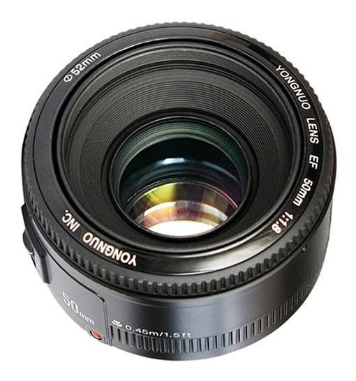 Lente Yongnuo 50mm 1.8 Canon Yn 50mm 12x S/juros