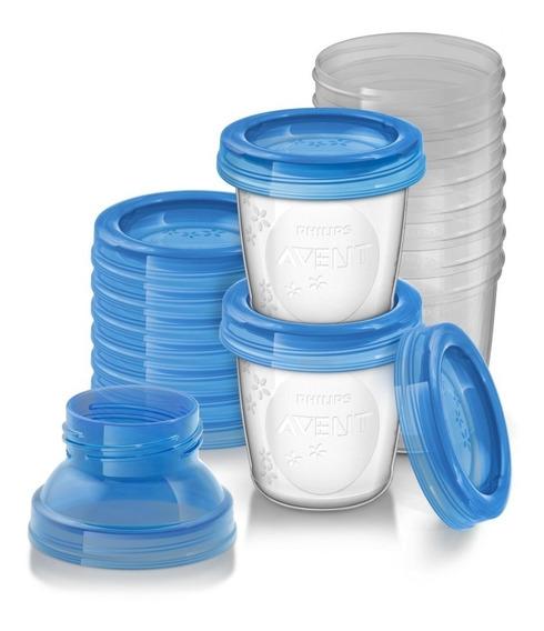 Kit 10 Potes Para Armazenamento Leite Materno Philips Avent