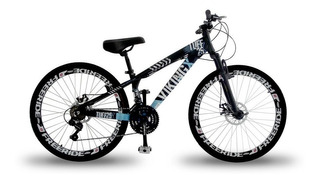 Bike Rebaixada Vikingx Freeride, Aro 26, Freio A Disco, 21v