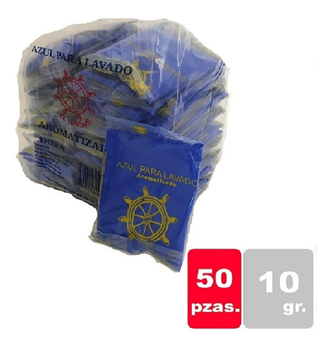 Blanqueador Azul De Lavado El Timón 1/50 Pzas De 10grs