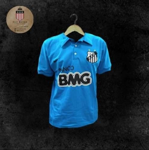 Camisa Santos Retrô 2012 Azul / Comemorativa