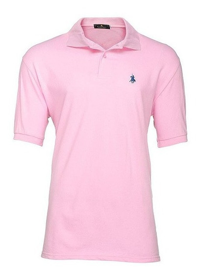 Playera Polo Club Of Berkshire. Rosa