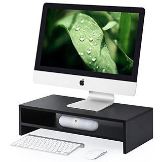 Fitueyes Computer Monitor Riser 21,3 Pulgadas 2 Tier Shelves