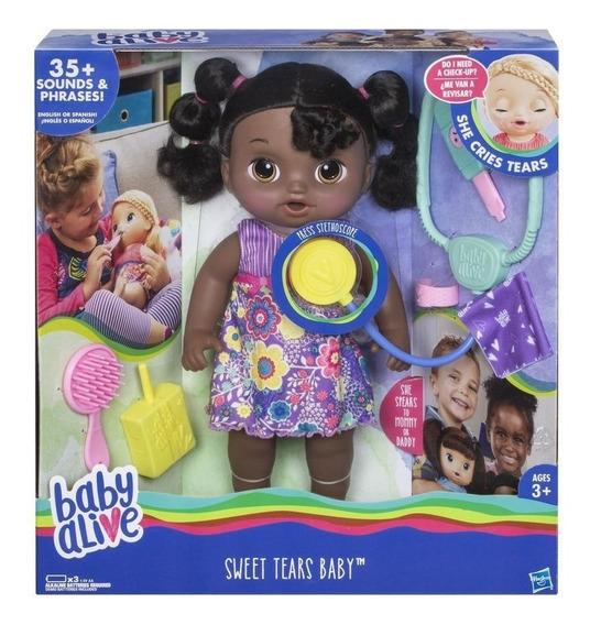Baby Alive Doces Lágrimas African American Original